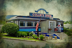 collins diner : textured (tim heffernan) Tags: new original buildings photography photo tim image ct diner explore architcture collins tjh heffernan cannan collinsdiner cannanct
