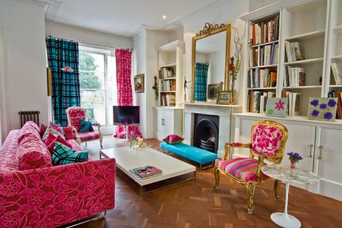 Pink Blue Vintage Room