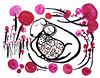 dog with babe (* Little Circus Design *) Tags: tattoo illustration skulls skeleton pattern decorative australiana floralpattern brushandink thedayofthedead birdimages brushink melbourneart australianart contemporaryillustration blackandwhiteimages thejackywintergroup monochromaticcolour littlecircusdesign madeleinestamer littlebirdsville limitededitiongicleeprints australianillustration contemporaryfolkstyle