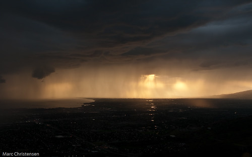 Rain over Saratoga Springs