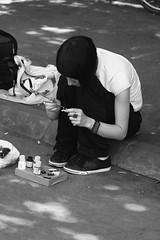 (Catalin Pruteanu) Tags: street bw june canon arthur paint strada brush verona romania delivery bucharest bucuresti iunie canon70300 pictor arthurverona canon400d streetdelivery