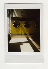 Laundrette, Putney (sa1000) Tags: london yellow fuji mini laundromat laundrette putney instax