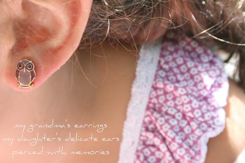 in her ears