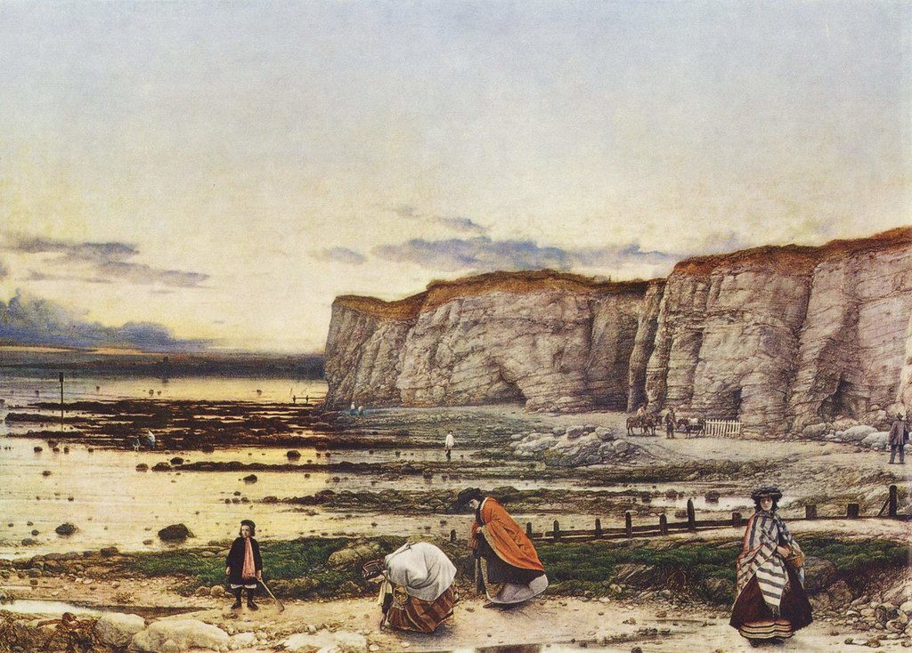 William Dyce (Scotland, 1806-1864) Pegwell Bay, Kent - a Recollection of October 5th 1858 (1859-1860) Oil on canvas 63 by 89 cm. Tate Britain, London. (Currently on loan to the Fitzwilliam Museum, Cambridge.)