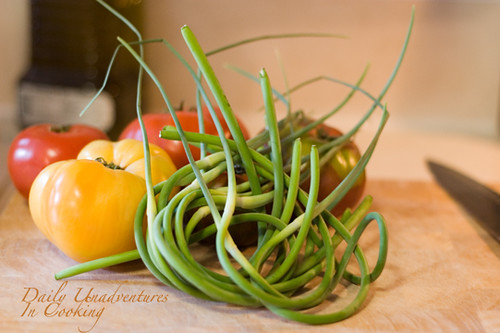 Garlic Scapes Heirloom Tomatoes