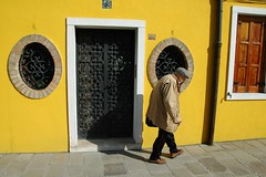 The Streets of Murano (Saumil U. Shah) Tags: street door old venice people italy yellow italian entrance murano venezia shah saumil saumilshah