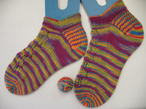 Lacy Summer Rainbow Socks