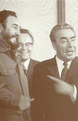 NOT AVALAIBLE. Leonid Brezhnev. Fidel Castro in Brezhnev's study. (raima50) Tags: postcard trade fidelcastro leonidbrezhnev
