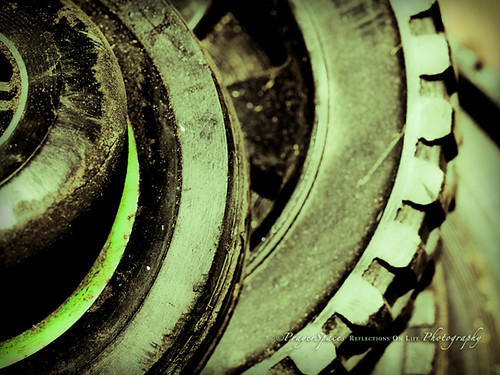 Wheels - An Abstract in Green (Explored)