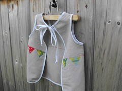 (Haley By Hand) Tags: summer kids happy whimsy fresh clothes celebration organic pinafore smock hemp bunting