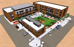 rendering of the project when complete (by: Sustainable Community Associates)