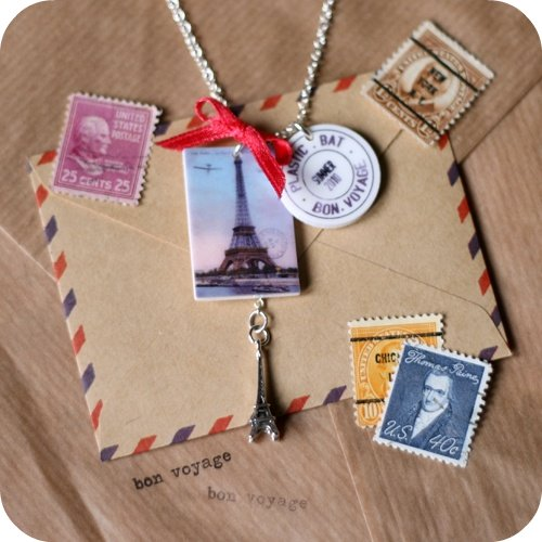Paris Postcard Necklace