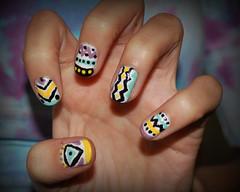 (artsn'crafts) Tags: diy hand handmade finger crafts craft made nailpolish nailart nailsaztectribalaztec printtribalprint