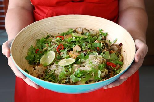 a quick pic of a veggie noodle salad