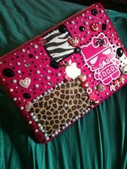 My home office. :D (MadameKnickers) Tags: pink starwars girly hellokitty stickers kawaii gyaru macbook