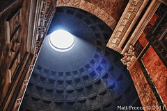 Pantheon (matpreec) Tags: sunlight rome architecture angle panteon hdr shaft motes