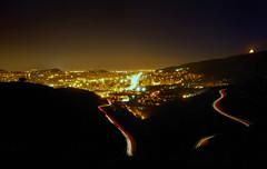 On the move (SlapBcn) Tags: barcelona city longexposure night noche bcn fred nocturna slap roads nit collserola carreteras 18200vr nikond80 186s slapbcn contaminacióluminica moltfred