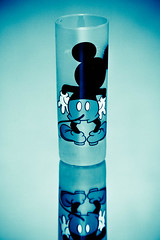 (A M A Z I N G) Tags: blue black love glass mouse cub amazing you drink g n mickey m z fav reflaction blackso
