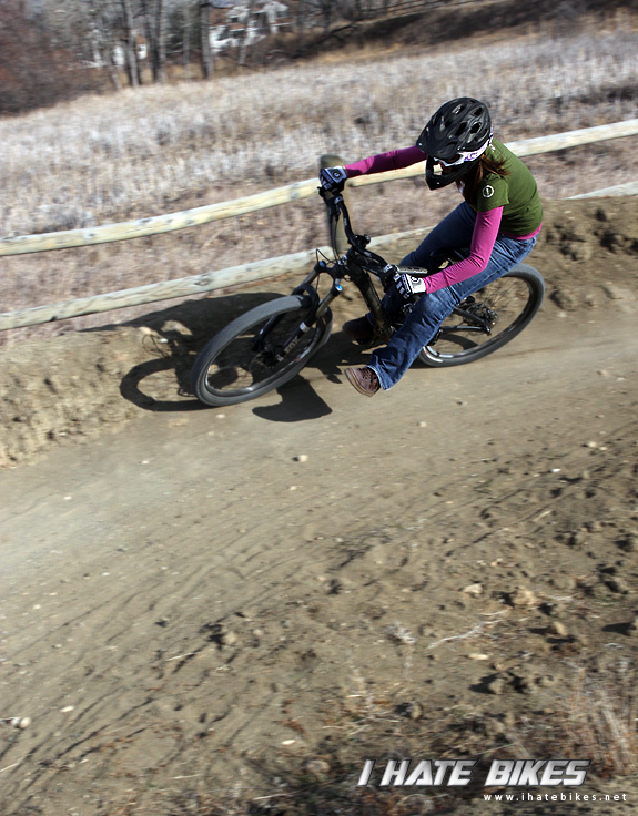 Inga is getting her cornering skills dialed.