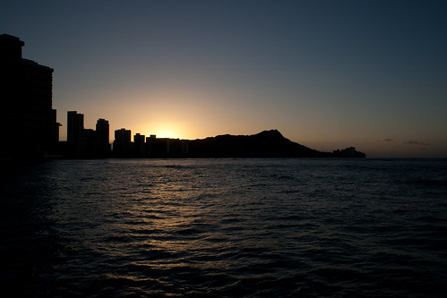 The Sunset Over Diamond Head Continues
