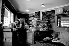 Please Order and Pay at the Register (The Little Marionette Cafe, Balmain) (flungabunga) Tags: bw cafe balmain marionette ristretto