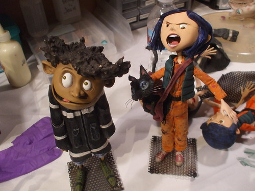 Coraline premiere - Coraline and Wybie at the after-party