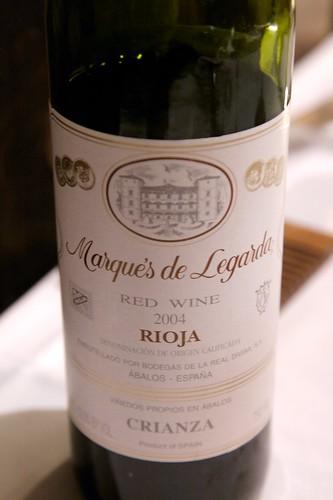 2003 Marqués de Legarda Rioja Crianza