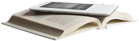 Kindle on book