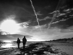 together alone (Lumatic) Tags: friends sea sky sun seascape beach nature clouds strand digital landscape denmark island photography freedom photo haze sand flickr alone contrail friendship wind photos dunes picture silhouettes baltic v together shore pollution dk online dnemark danmark ostsee digitalphoto exhaust digitalphotos vaportrail polution condensationtrail sjaelland greenhouseeffect marielyst lotse falster seeland photosonline sildestrup photoonline lumatic