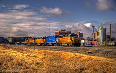Muskogee Afternoon Train (Explored) (Don Iannone) Tags: oklahoma train flickr downtown explore unionpacific soe hdr sunnyday railroadtracks grainsilo freighttrain industrialarea photomatix ruraloklahoma flickrsbest abigfave platinumphoto anawesomeshot skycloudssun doniannone colourartaward nikond80camera photosexplore thebestgallery muskoge highdynamicareaphotography