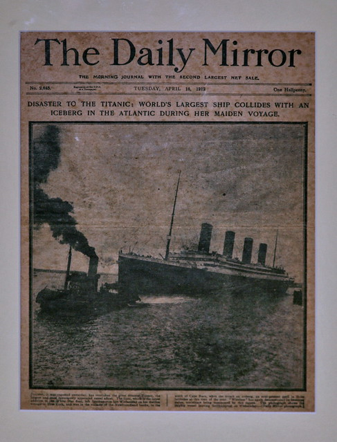 Titanic report, The Daily Mirror, 16 April 1912