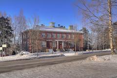 Kansalaisopisto 02 (MikeAncient) Tags: winter sunlight snow building ice architecture finland landscape geotagged bright hdr mäntsälä tonemapped tonemap 3exp handheldhdr kunnantalo kansalaisopisto