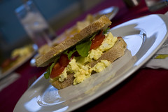 Egg Salad on Rosemary Bread
