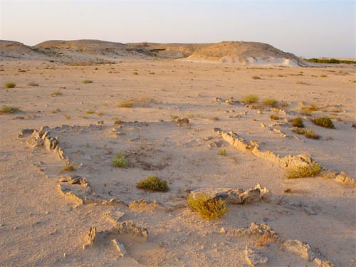 Excavations of a building on Al Khor Island