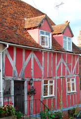 In the Pink of Condition at Lovely Lavenham! (antonychammond) Tags: uk pink england suffolk britain tp lavenham mywinners colorphotoaward flickraward colourartaward anticando homersiliad medieavalhouse