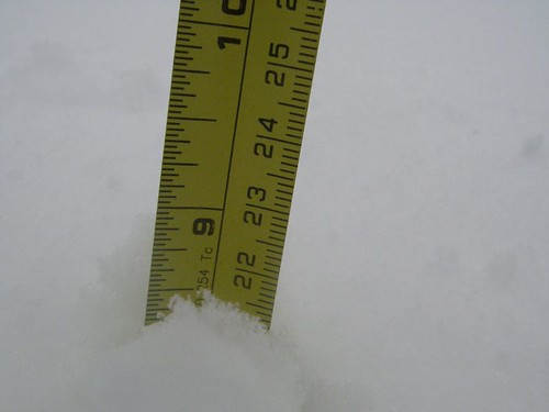 8 inches of snow