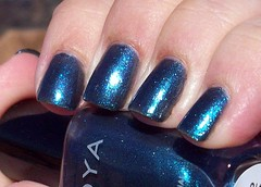 Zoya Kotori (Polish Addiction) Tags: blue macro zoya nail nails manicure nailpolish picnik shimmer notd kotori naturalnails