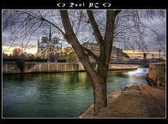 Paris - A River Runs Through It :: HDR (raul_pc) Tags: paris france church water gua seine canon eos cathedral gothic sigma medieval notredame igreja raul bp 1020 hdr sena illestlouis cathdraledenotredame 450d specialtouch baladesparisiennes