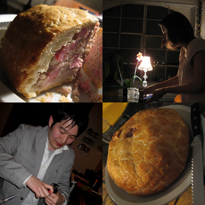 colloquial cooking's pork pie dinner
