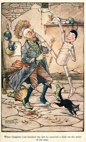 015-Charles Folkard- Pinocchio the tale of a puppet -1911