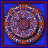 design ~(K&K 31)~ (Gravityx9) Tags: blue red photoshop kaleidoscope chop kk amer 041009 0409 kaleidospheres kaleidofractals rebelxtshots kk31