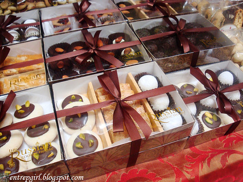 Russian Cookie House gift boxes