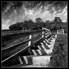 Stairway to Heaven! (opobs) Tags: sky tree castle grass clouds spring carmarthenshire afternoon stones wideangle april canon5d 2009 bcc wfc 1740mml dryslwyncastle welshflickrcymru opobs bridgenddistrictcameraclub michaeljstokesawpf colinfilter