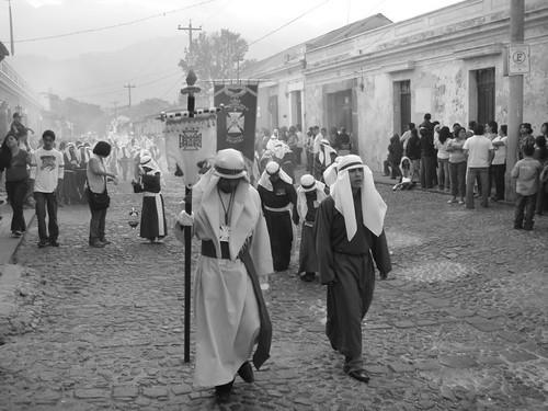 Semana Santa processions in Antigua, Guatemala.