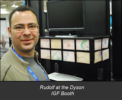 Rudolf at the Dyson IGF Booth