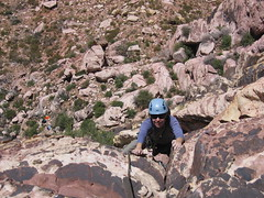 Rachel at Top of Pitch 3 of Birdland (5.7)