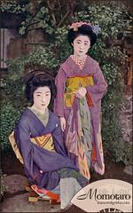 Momotaro - Taisho Era Maiko (Naomi no Kimono Asobi) Tags: japan vintage japanese photo kyoto antique postcard maiko geiko photograph geisha    kimono obi gion meiji kamogawa pontocho  showa  hanamachi taisho momotaro    vintagephotograph  rppc     immortalgeishacom