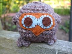 A cuddly crochet owl