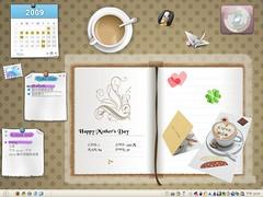 Desktop 2009-05: My Desk (for Mother