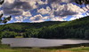 Trei ape (AragianMarko) Tags: trees sky lake nature clouds forest landscape aqua europe lac adobe romania caras hdr stratocumulus banat sonydscf828 jezero photomatix oblaci padure landshaft